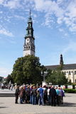 Pilgrims in Czestochowa Stock Photos