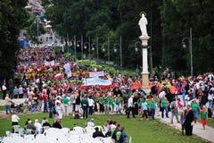 Pilgrims in Czestochowa Stock Photo