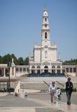 Pilgrims in Fatima sanctuary royalty free stock images