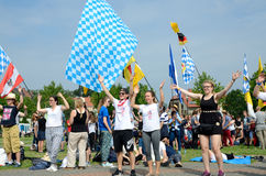 Pilgrims with flags, World Youth Day 2016 Royalty Free Stock Photography