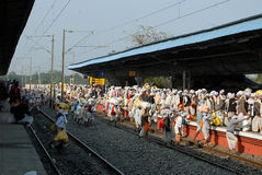 Pilgrims Of Gangasagar Stock Photo