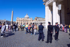 Pilgrims gathered  at Saint Peter's Square in Vatican Royalty Free Stock Images