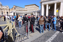 Pilgrims gathered  at Saint Peter's Square in Vatican Royalty Free Stock Photography