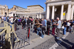 Pilgrims gathered  at Saint Peter's Square in Vatican Royalty Free Stock Image