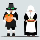 Pilgrims giving thanks Royalty Free Stock Photos
