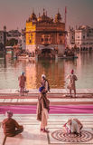 Pilgrims at the Golden Temple in India Royalty Free Stock Photos