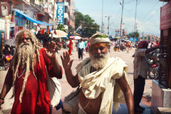 Pilgrims in Haridwar Stock Photography