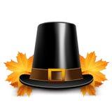Pilgrims hats for thanksgiving Stock Photos