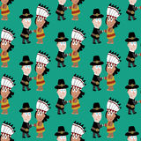 Pilgrims and indians Royalty Free Stock Image
