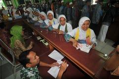 Pilgrims from Indonesia Stock Photos