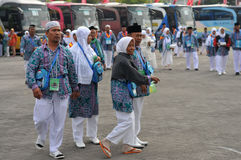 Pilgrims from Indonesia Stock Image