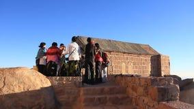 Pilgrims. Invocatory prayer. Moses Mountain. Sinai Peninsula. Egypt Royalty Free Stock Photography