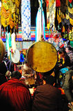 Pilgrims and Jokhang Royalty Free Stock Images