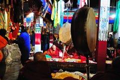 Pilgrims and Jokhang Royalty Free Stock Photo