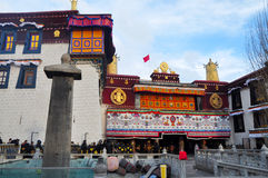 Pilgrims and Jokhang Royalty Free Stock Photography