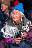 Pilgrims in Ladakh, India Stock Image