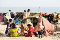Pilgrims for the Megha Mela of Konark Royalty Free Stock Images