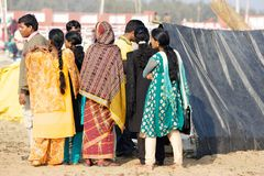 Pilgrims for the Megha Mela of Konark Stock Photography