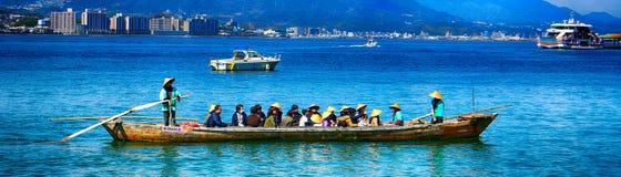 Pilgrims, Miyajima, Japan Royalty Free Stock Photo