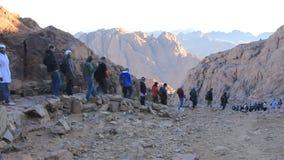 Pilgrims. Moses Mountain. Sinai Peninsula. Egypt Royalty Free Stock Photo