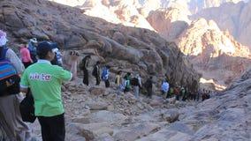 Pilgrims. Moses Mountain. Sinai Peninsula. Egypt Stock Images