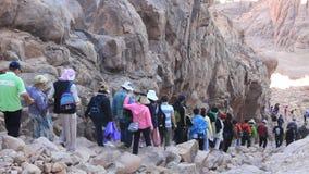 Pilgrims. Moses Mountain. Sinai Peninsula. Egypt Stock Photography