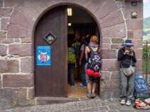 Pilgrims Office - Saint Jean Pied de Port stock images