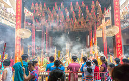 Pilgrims pagoda Lunar New Year's Day Stock Image