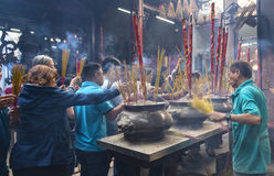 Pilgrims pagoda Lunar New Year`s Day Stock Images