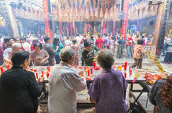 Pilgrims pagoda Lunar New Year`s Day Royalty Free Stock Photo