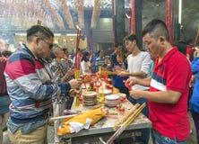 Pilgrims pagoda Lunar New Year`s Day Royalty Free Stock Image