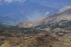 Pilgrims path - the holy site of Muktinath royalty free stock images