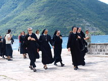 Pilgrims, Perast, Montenegro Royalty Free Stock Photos