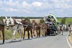 Pilgrims on a pilgrimage to El Rocio, Spain Stock Images