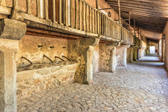 Pilgrims Quarters, Lluc Monastery, Mallorca. The original pilgrims quarters at Lluc Monastery - Santuari de Lluc, where stabling was provide below the visitors Royalty Free Stock Images