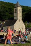 Pilgrims on religious event St. Ivo in Podmilacje, Jajce Royalty Free Stock Photography