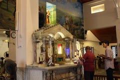 Pilgrims of Saint Anthony Shrine in Colombo stock images