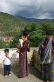 Pilgrims, Simtokha, Bhutan Stock Images