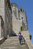 Pilgrims stairs in Rocamadour Royalty Free Stock Image