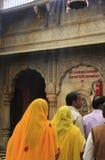 Pilgrims standing inside Karni Mata Temple, Deshnok, India Royalty Free Stock Photo
