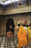 Pilgrims standing inside Karni Mata Temple, Deshnok, India Royalty Free Stock Photography
