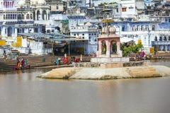 Pilgrims take ritual bathing Stock Photography