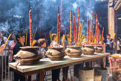 Pilgrims to pray for peace incense censer giant Royalty Free Stock Photos