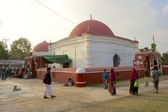 Pilgrims at Ulugh Khan Jahan's mausoleum in Bagerhat, Bangladesh. Stock Image