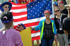 Pilgrims from USA, World Youth Day 2016 Royalty Free Stock Photo