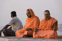 Pilgrims at Varanasi - India Royalty Free Stock Photos