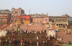 Pilgrims in Varanasi, India Royalty Free Stock Photo