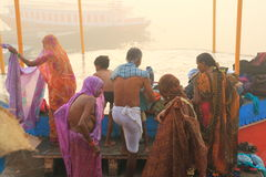 Pilgrims in Varanasi, India Stock Photography