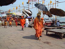 Pilgrims in Varanasi, India Royalty Free Stock Image