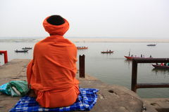 Pilgrims in Varanasi, India Stock Photos